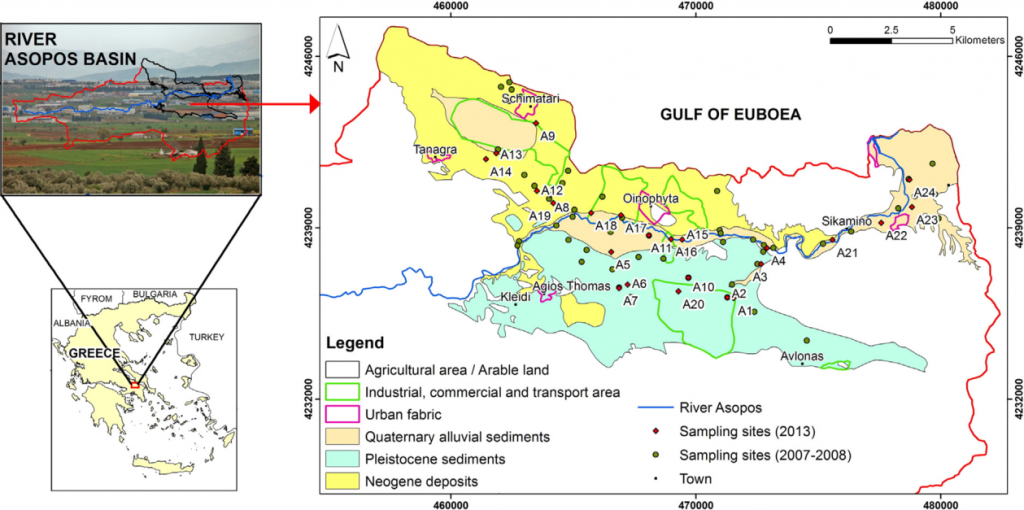 """Source: Matiatos, Ioannis. 2016. """"Nitrate Source Identification in Groundwater of Multiple Land-Use Areas by Combining Isotopes and Multivariate Statistical Analysis: A Case Study of Asopos Basin (Central Greece)."""" Science of the Total Environment 541: 802–14."""