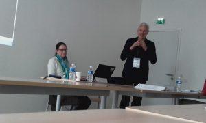 Catie Burlando (UNIPD) and Manfred Perlink (UNIBE)