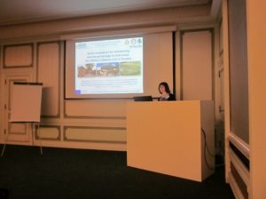 Fig. 1 Prof. Maria Kozová presented in the 7th section of the congress a lecture: Social Innovation for the Conservation of Cultural Heritage in Rural Areas: UNESCO Site Vlkolínec in Slovakia (Photo: Jana Sadovská)